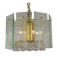 Triarch Signature 4 Light Chandelier in Brass 25034