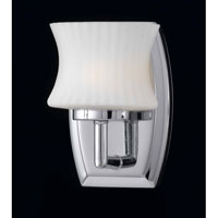 Triarch Industries Astro 1 Light Bath in Chrome with Frosted Ribbed Glass 25361