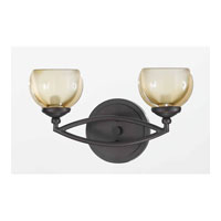 Triarch Industries Retro 2 Light Bath in Bronze with Champagne Tinted Glass 25372