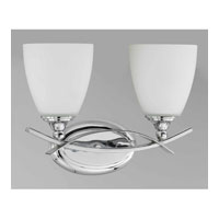 Triarch Industries Neptune 2 Light Bath in Chrome with White Opal Glass 25382