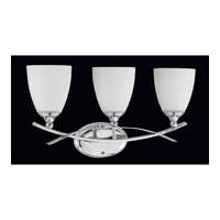 Triarch Industries Neptune 3 Light Bath in Chrome with White Opal Glass 25383