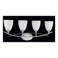 Triarch Industries Neptune 4 Light Bath in Chrome with White Opal Glass 25384
