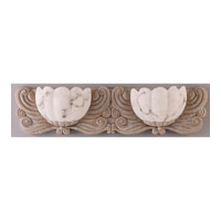 Triarch Industries Frolic 2 Light Bath in Fossil Stone with Tri-Stone Alabaster Resin Glass 25842-FOS