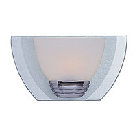 Triarch Industries South Beach 1 Light Bath in Chrome Plated and Mirror with Opal White Glass 25921