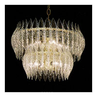 Triarch Kerchief Chandelier in Brass Plated Frame 26203-BR
