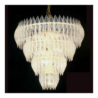 Triarch Kerchief Chandelier in Brass Plated Frame 26206-BR