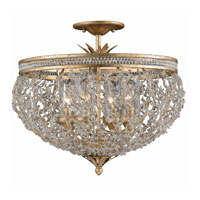 Triarch Industries Garland 4 Light Semi-Flush Mount in Gold and Silver Leaf with Hand Strewn Beads Glass 29231-22