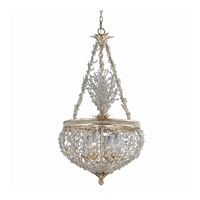 Triarch Industries Garland 4 Light Pendant in Gold and Silver Leaf with Hand Strewn Beads Glass 29232-22