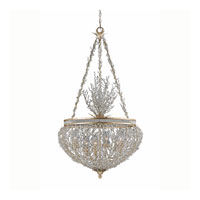 Triarch Industries Garland 6 Light Pendant in Gold and Silver Leaf with Hand Strewn Beads Glass 29232-30