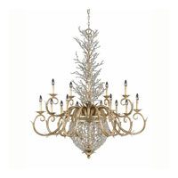 Triarch Industries Garland 18 Light Chandelier in Gold and Silver Leaf with Hand Strewn Beads Glass 29235