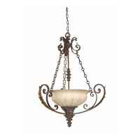 Triarch Industries Kordoba 4 Light Pendant in Roman Bronze with Cognac Antiqued Scavo Glass 29273