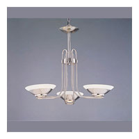 Triarch Halogen 3 Light Chandelier in Brushed Steel 29403-BS