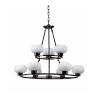 Triarch Industries Atomique 9 Light Chandelier in Gunmetal 29474-GM