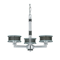 Triarch Industries Vegas 3 Light Mini Chandelier in Chrome with Frosted Glass 29488