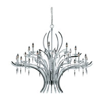 Triarch Industries Allure 24 Light Entry Chandelier in Chrome Plated with Acrylic Accents With Crystal Drops Glass 29495