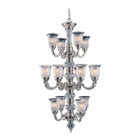 Triarch Industries Regency 16 Light Chandelier in Pewter Plated with Hand Cut Glass 29585-PWT