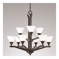 Triarch Sherwood 9 Light Chandelier in English Bronze 29634