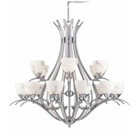 Triarch Industries Legend 18 Light Entry Chandelier in Brushed Steel 29676-BS