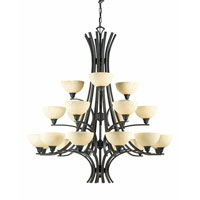 Triarch Industries Luxor 21 Light Chandelier in Oil Rubbed Bronze with Hand Painted Scavo Glass 29772-BZ