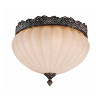 Triarch Industries Sultan 1 Light Flush Mount in Bronze Oro with Cognac Antiqued Scavo Glass 31029