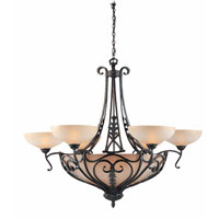 Triarch Industries Passion 12 Light Entry Chandelier in Brone Oro with Cognac Antiqued Scavo Glass 31085
