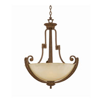 Triarch Industries Ambassador 4 Light Pendant in Morrocan Bronze with Cognac Antiqued Scavo Glass 31122-26
