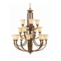 Triarch Industries Ambassador 16 Light Chandelier in Morrocan Bronze with Cognac Antiqued Scavo Glass 31125