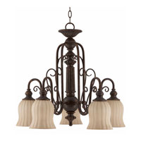 Triarch Mademoiselle 5 Light Chandelier in Tortoise Shell 31138