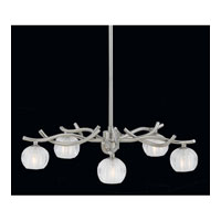 Triarch Industries Cosmo 5 Light Chandelier in Satin Nickel with Frosted Ribbed Glass 31193