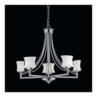 Triarch Industries Astro 5 Light Chandelier in Chrome with Frosted Ribbed Glass 31203