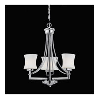 Triarch Industries Astro 3 Light Mini Chandelier in Chrome with Frosted Ribbed Glass 31208