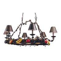 Triarch Garden 6 + 3 Light Island Light in Crackle Bronze 31319