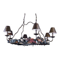 Triarch Bayside 6 + 3 Light Island Light in Crackle Bronze 31329