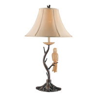 Triarch Industries Aviary 1 Light Table Lamp in Driftwood with Silk Shade 31347