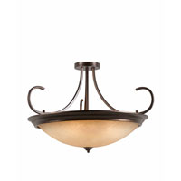 Triarch Industries Lacosta 10 Light Semi-Flush Mount in English Bronze with Scavo Rainbow Glass 31401-38