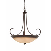 Triarch Industries Lacosta 10 Light Pendant in English Bronze with Scavo Rainbow Glass 31402-38