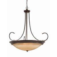 Triarch Industries Lacosta 12 Light Pendant in English Bronze with Scavo Rainbow Glass 31402-54