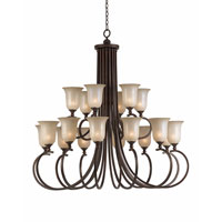 Triarch Industries Lacosta 18 Light Chandelier in English Bronze with Scavo Rainbow Glass 31405