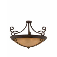 Triarch Industries Corsica 10 Light Semi-Flush Mount in English Bronze with Antiqued Scavo Glass 31431-35