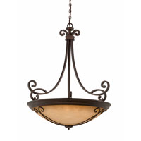 Triarch Industries Corsica 12 Light Pendant in English Bronze with Scavo Glass 31432-48