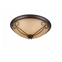 Triarch Industries Corsica 4 Light Flush Mount in English Bronze with Antiqued Scavo Glass 31436-23