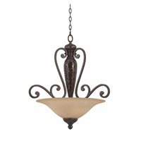 Triarch Industries Jewelry 4 Light Pendant in Harvest Bronze with Antiqued Scavo Glass 31442
