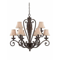 Triarch Industries Jewelry 9 Light Chandelier in Harvest Bronze with Soft Back Glass 31444