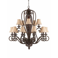Triarch Industries Jewelry 15 Light Chandelier in Harvest Bronze with Soft Back Glass 31445