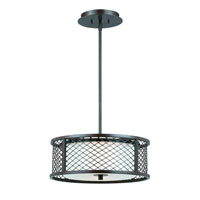 Triarch Industries Chainlink 3 Light Pendant in Bronze with White Frosted Glass 31572-16