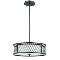 Triarch Industries Chainlink 4 Light Pendant in Bronze with White Frosted Glass 31572-20