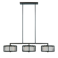 Triarch Industries Chainlink 6 Light Island Light in Bronze with White Frosted Glass 31578