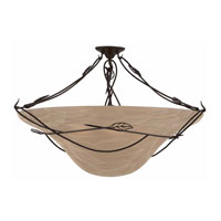 Triarch Industries Whisper 6 Light Semi-Flush Mount in Blacksmith Bronze 31601-34