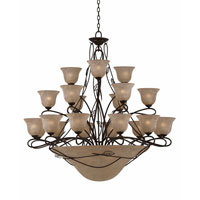 Triarch Industries Whisper 27 Light Entry Chandelier in Blacksmith Bronze 31605