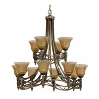 Triarch Industries Donatelli 12 Light Chandelier in Platinum Bronze with  Frosted Tipped Piastra Glass 31634